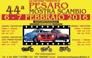 Mostra scambio auto motociclo d'epoca Pesaro 2016
