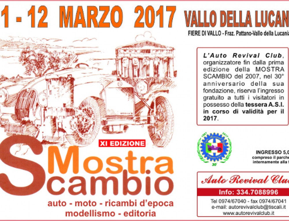 11^ Mostra Scambio di Vallo della Lucania